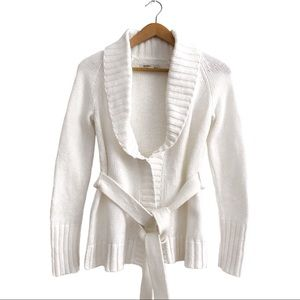 Old Navy Chunky Knit Cardigan Sweater S Cream